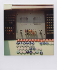 I specialise in revenge (Stasi 4) (ale2000) Tags: impossible i1 600 instant instantphotography analog analogue analogico stasi stasizentrale caps buttons controlroom stasimuseum office ufficio paranoia vintage electronics