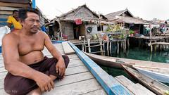 The Chief (Collin Key) Tags: bajau seagypsies nativepeople sulawesi malenge houses village huts indonesia sea idn togianislands