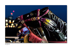 Breathing bokeh (hehaden) Tags: horse ride painted pier brightonpier palacepier night bokeh brighton sussex sel50f18