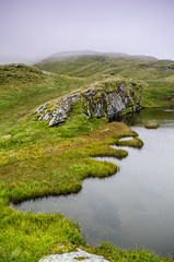 7 Fingers or Toes (daedmike) Tags: thetarmachanridge scotland perthshire hillwalking hills fingers toes argument could mist pool pond grass