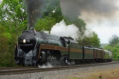N&W #611 AT WEBSTER, VA (railfan1967) Tags: nw 611 484 webster va