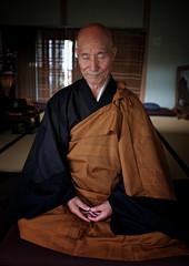Zen Master Jinen Doing Zazen Meditation (El-Branden Brazil) Tags: zen buddhism jinen soto japan japanese asia asian sacred holy religion zazen meditation monk robes tokyo