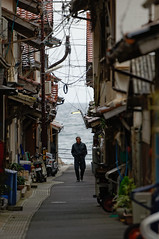 The Old Man and the Sea ( Ogawasan) Tags: japan japon sea man street