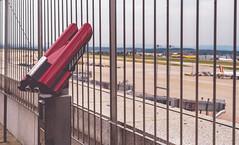Airport Stuttgart (kevingomes1) Tags: airport flughafen stuttgart observation deck besucherterrasse badenwrttemberg fernglas binoculars cloudy wolkig urlaub vacation waiting