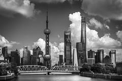 (Rob-Shanghai) Tags: shanghai china city cityscape pudong lujiazui jinmao pearltower wfc shanghaitower bridge gardenbridge river creek suzhoucreek clouds leica m240 50mm