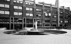 Barbican (Jim Davies) Tags: olympusmjuii olympusstylusepic monochrome mjuii stylusepic ilford xp2 c41 chromogenic 35mm analogue veebotique olympus london barbican architecture modernism brutalism concrete buildings blackwhite bw filmfilmforever ishootfilm film