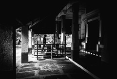 Worship (BALAJI SEETHARAMAN) Tags: cwc546 chennaiweekendclickers temple worship people monochrome blackandwhite 1855mm lighting sunlight morning canon600d canon chennai