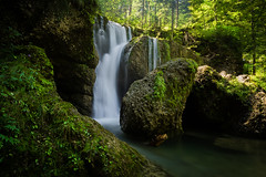 Steigbach #2 (ptrckmayer) Tags: water falls waterfall green summer mountain mountainbike nature landscape river stones forest sunny trees tree yellow sony sonyalpha ndfilter longexposure germany deutschland
