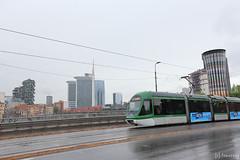 IMG_4726 (tomosang R32m) Tags: lombardia milano italia italy イタリア ミラノ ロンバルディア torrearcobaleno rainbowtower レインボータワー 給水塔 トラム tram 路面電車