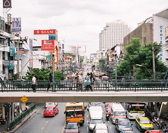 R1-00 (7 w d) Tags: bangkok rail train pentax 67 6x7 film raw analog medium format 120 kodak fujifilm pro400h buildings house crowd density 90mm 90 28