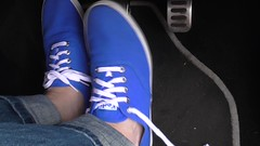 Pedal pumping again in blue Keds by request (eurimcoplimsoll) Tags: plimsollsplimsolesgymshoespumpssliponelasticold blue keds sneakers trainers