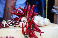 Ortygia's market, Syracuse - Sicily (ciccioetneo) Tags: ortygiamarket syracuse sicily onions chilipeppers cipolle peperoncini