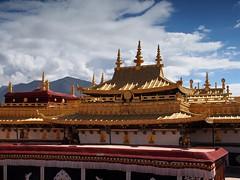 The golden top of Jokhang (claying) Tags: olympus em5 tibet china lhasa    panasonic lumixgxvario1235mmf28asphpowerois jokhang