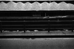 PARCELLE 16-035_03 (gyjishukke) Tags: analog argentique monochrome noiretblanc believeinfilm shootfilm minoltax700 50mm filtrejaune 32 scanlowdef ilford delta400 ie800iso selfdevelopment kodakhc110b 10 20 pniche seine gravier tas chiffre quai fleuve bw