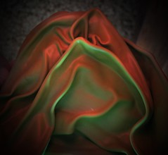 Red And Green Reconciled (Sea Moon) Tags: latex balloon folds wrinkles colors opposites light shadow abstraction macro rubber smooth