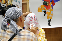 Face Paint Application (Design Festa) Tags: designfesta designfestasummer art artfestival artevent artwork design tokyo japan japanese japaneseartfestival japaneseart original handmade madeinjapan facepaint kabuk kabuki