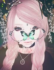 Butterfly. (Rokote) Tags: secondlife sl tsg pastelgoth goth kawaii