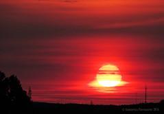 Sunrise 25 sept 2016 07:15 (EXPLORED) (Amberinsea Photography) Tags: sunrise sun sky redsky clouds landscape horizon amberinseaphotography sweden beautiful