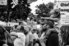Look There (AlCastelan21) Tags: indiana parade dad daughter daddysgirl blackandwhite bw people crowd cute