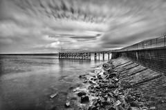 Trefor, North Wales. (jtokarz2003) Tags: northwales coast trefor seaside blackandwhite pier jetty