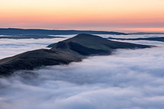 Great Ridge Mists (matrobinsonphoto) Tags: uk landscape great britain outdoors beautiful scenery countryside view peak district derbyshire nature natural ridge mam tor lose hill hope valley back hollins cross mist fog cloud temperature inversion morning dawn sunrise sunlight blue hour orange sky hills national park