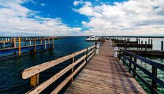Harrisville docks at end of season (hz536n/George Thomas) Tags: 2016 cs5 canon canon5d ef1740mmf4lusm michigan september copyright nik upnorth lake lakehuron greatlakes water boat wood docks sky clouds harrisville