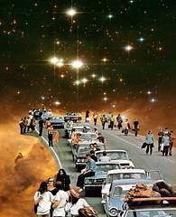 No engarrafamento (Beatriz Meneses) Tags: space galaxy transito car collage surrealism surreal art