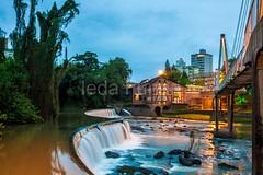 timb-0064 (iedafunari) Tags: timb santa catarina brasil tapyoka represa rio benedito passarela anoitecer ponte enxaimel