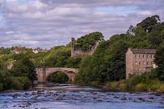 Three Buildings (bill lowis) Tags: barnardcastle bridge rivertees castle wall