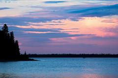 Colorful Fishing Sky (matthewkaz) Tags: nagagami nagagamilake lake water sky reflection color colors reflections boat fishingboat fishing fishcamp expeditionsnorth clouds silhouette ontario canada 2016