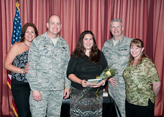 Key Spouse_2 (vanceafb) Tags: vanceclub wassonterry annual keyspouseluncheon unitedstates oklahoma vanceairforcebase community partnership keyspouse airforce 19thairforce aireducationandtrainingcommand 71stflyingtrainingwing family support spouse jamesdarren colonel commander leadership smile airmen aviation military pilottraining chief commandchief amanmark award