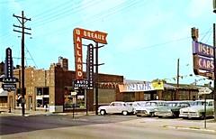 Warren-Proctor Co., Studebaker, Louisville KY, 1962 (aldenjewell) Tags: warren proctor co louisville ky kentucky studebaker lark dealership showroom 1962 postcard