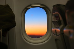 Were going to Ibiza (Mettwoosch) Tags: travel urlaub vacation holiday sunset sunrise aircraft window colors flugzeug fenster