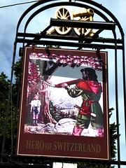 Hero of Switzerland (Draopsnai) Tags: heroofswitzerland pub pubsign williamtell loughboroughroad lambeth