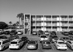 Beach Hotel Cocoa Florida (cdsessums) Tags: hotel floors palm trees cars parking lot florida cocoa