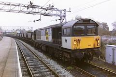 BRITISH RAIL 58027 (bobbyblack51) Tags: british railways class 58 ruston paxman brush type 5 coco diesel locomotive 58027 stafford station 1993