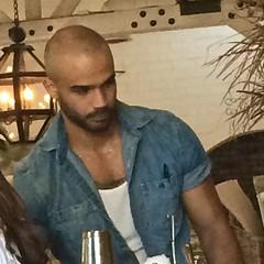 IMG_1007 (danimaniacs) Tags: friends beard scruff hot sexy man guy bald hunk bartender