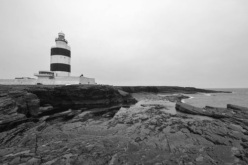 Hook Lighthouse B&W