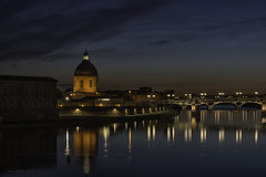 Toulouse-Night-Full 2 (Lowplainstu) Tags: toulouse city cityscape nightscape night river architecture france garrone reflection long exposure sky
