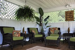 This is where you can relax. (~ Liberty Images) Tags: garden nature gardening lovely peaceful serene ohiogardentour libertyimages summer patio lanai