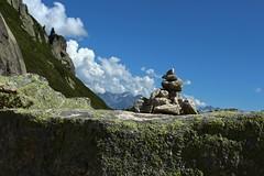cairn (bulbocode909) Tags: valais suisse valdarpette montagnes nature rochers cailloux cairns nuages bleu