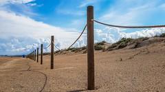 Playa de Piles (Quique CV) Tags: playa beach mediterranean mediterraneo valencia piles sand arena cielo sky azul blue costa coast otoo autumn wood madera