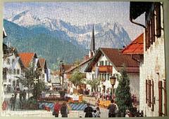 Floriansplatz, Garmisch-Partenkirchen (pefkosmad) Tags: jigsaw puzzle leisure hobby pastime complete 1000pieces garmischpartenkirchen floriansplatz photograph photo
