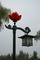 Next visit will be when peonies are in bloom (mick mcd) Tags: china luoyang peonie lamp post