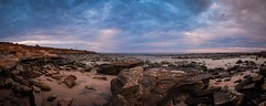 Panorama near Gantheaume Point (--Welby--) Tags: gantheaume point landscape ocean beach coast rocks sunset storm light house kimberley broome fuji xt10