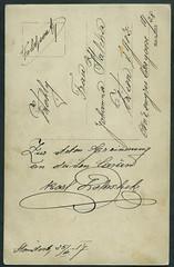 Archiv H632 Karl Polaek (back), WWI, sterreich-Ungarn, 25. Juli 1917 (Hans-Michael Tappen) Tags: archivhansmichaeltappen wwi feldpost kuk 1917 sterreichungarn 19141918 handschrift
