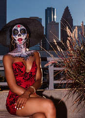 Fall Colors (Cardwell Photo LLC | Thanks for 2 Million Views!) Tags: afternoon autumn balcony beautiful beauty black blue brown building city cityscape colorful cosplay costume diadelosmuertos downtown dress evening fall fantasy fashion greaterhouston halloween harriscounty hat houston jonshakennedy lorenahigdon meetup miniskirt model outdoor ppl people plants red rushes sit sitting skirt sugarskull tan texas universityofhoustondowntown white woman vertical unitedstates