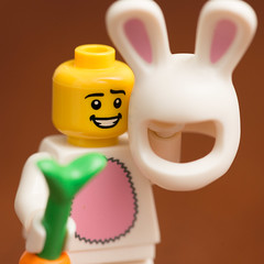 Lego Bunny Suit Guy (Andrew D2010) Tags: easter minifigure bunny suits bunnysuitguy lego carrot rabbit bunnysuit series7 series rabbitsuit easterbunny