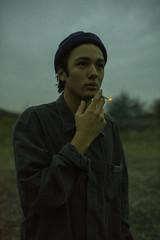 Libre (Yaqine Hamzaoui) Tags: boy smoking cigarettes sea nature belgium shortmovie friend colors
