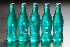 Miniature Coca Cola Bottles (iofdi) Tags: macromondays miniature cocacola madeinhongkong registeredtrademark inarow vintage toy bottle